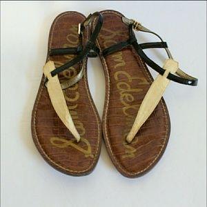 Sam Edelman Gigi embossed snake print sandals